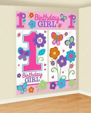 Sweet Birthday Girl Scene Setters Kit Baby Party Baby 1st Decorations