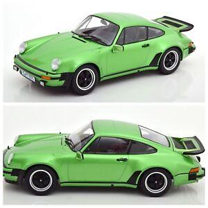 1/18 KK Scale Porsche 911 (930) 3.0 Turbo 1976 Green Neuf Livraison Domicile