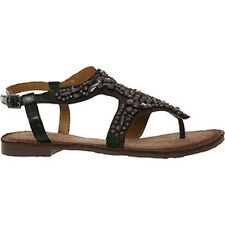 Real leather Buffalo Brown Beaded Sandals size 4