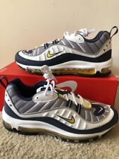 Nike Air Max 98 OG Mens Size 14 Shoes Tour Yellow White 640744 105 Navy