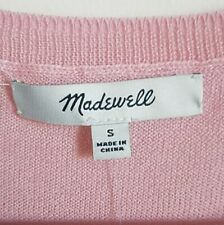 madewell sweater. soft pink. hilo. NWOT