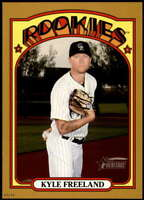 Kyle Freeland 2021 Topps Heritage 5x7 Gold #451 SP /10 Rockies