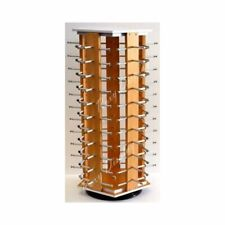 Rotating 5 Sided Wooden Counter Top Sun Glass Display - Hold 50 Pairs