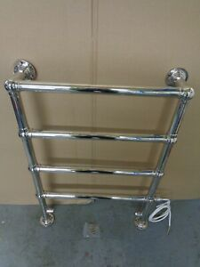 TOWEL WARMER WALL AND FLOOR MOUNTED ELECTRIC BRIGHT NICKEL 850 X 600