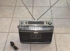 1970's Vintage Sony Radio CF580 AM/FM Cassette Stereo Boom Box Super Fine Tuner