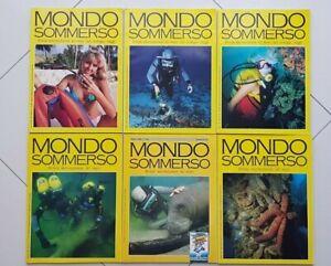 Lotto 6 riviste MONDO SOMMERSO