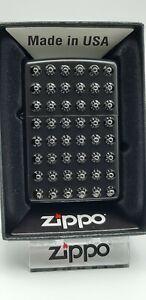 Original Zippo Rivets / Nieten aufgesetzt black  - Japan Import- Rare 2018 - Neu