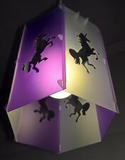 The hexagon purple unicorn lampshade  lightshade  contemporary classic
