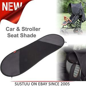 Diono Seat Shade│Sun Protector for Prams/Pushchairs/Strollers/Car Seats│Black