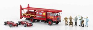 58475 Brekina Fiat 642 Truck Transporter ''Ferrari'' Car & Characters Ho 1:87