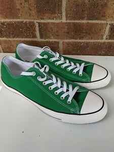 NWOB Converse Chuck Taylor Size 12 Men 14 Women All Star Lo Green Sneaker Low