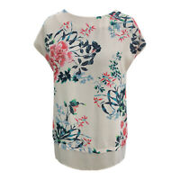 Ladies New F&F Floral Tunic 2 Tier Top Peach Sizes 10-12-14 Branded Summer wear