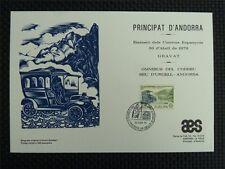 Andorra 1979 Europa cept cars ETB carta prefilatelica only 300 pieces!!! z717