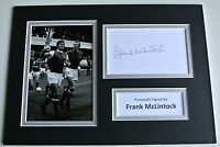 Frank McLintock SIGNED autograph A4 Photo Mount Display Arsenal Memorabilia COA