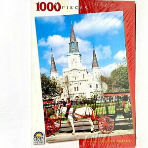 Crown 1000 Piece Jigsaw Puzzle The Golden Series St Louis Cathedral New Orleans