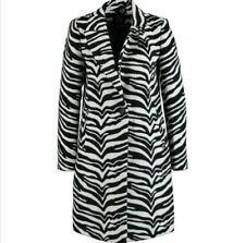 Women's Black And White Zebra Print Coat Brand New