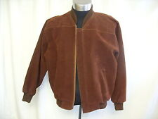 """Mens Leather Jacket KC by Pervin M, brown nubuck, chest 42"""", length 27"""", 1316"""