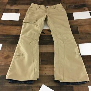 686 Parklan Shadow Pants Snow Snowboard Cargo Pants Men's Sz Medium Tan
