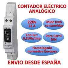 Contador Eléctrico Luz Analogico Medidor de energia LCD Carril DIN Energy Meter