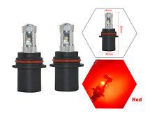 2Pcs 9004 30W CREE LED Fog Tail Driving Head Light Lamp Bulbs Red Super Bright