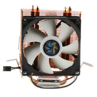 1 Piece CPU Cooler Fan with 2 Direct Contact Heatpipes