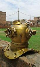 Vintage U.S Navy Mark V Steel OLD Brass Scuba Mini Diving Divers Helmet