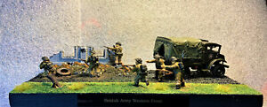 WW 2 Diorama 28mm(1/56) British CMP Truck With 6 Figures ( Hand Painted )