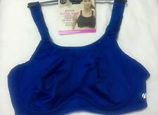 M&S Active Underwired EXTRA HIGH IMPACT SERIOUS SPORTS BRA In BLUE MIX Size 42F