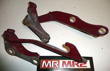 Toyota MR2 MK2 Bonnet Hinges Red 3J6 -  Mr MR2 Used Parts 1989-1999