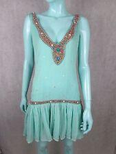Antik batik embelli robe avec un lacet à nouer dans le dos taille m