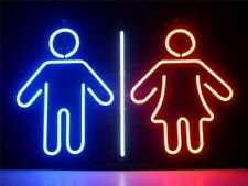"""Man And Woman Rest Room Neon Light Sign 17""""x14"""" Beer Lamp Decor Bar Real Glass"""