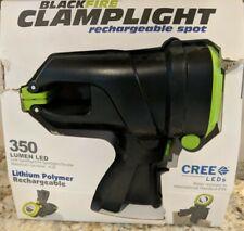 Blackfire Clamplight Rechargeable Spotlight - 350 Lumen LED - water resistant