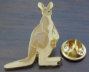 Kangaroo Pin Badge Australia Australian Animal Lovers Brooch