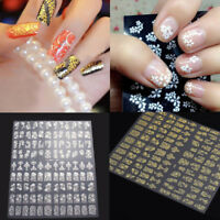 108 pcs 3D Nail Art Transfer Stickers Flower Decals Manicure Decoration Tips