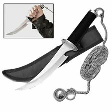 Dagger Weapon of the Ninja Assassin Knife w/ Steel Ball + Chain & Sheath