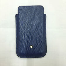 MONTBLANC porta SmartPhone Meisterstuck blu blue Ref. 109190 NUOVO LEATHER COVER