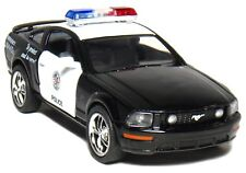 "New 5"" Kinsmart 2006 Ford Mustang GT Police Car Diecast Model Toy Cop 1:38 Scale"