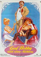 Filmplakat Graf Bobby und seine Nichten-I Tyrens tegn 1975 Søltoft Erotik