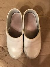 Dansko White Clogs Size 38