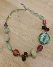 Stunning Vintage Statement Foiled Murano necklace