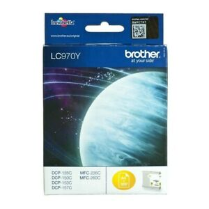 Original Brother LC970Y Yellow DCP-135C DCP-150C DCP-153C a-Ware Boxed Mhd