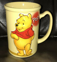 "The Disney Store Winnie the Pooh EMBOSSED 3D Coffee Mug Cup 5"" 16oz  NEW UNUSED"