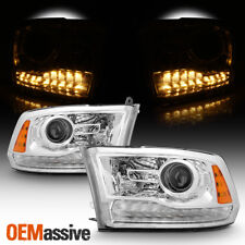 Fits 13 14 15 16 17 18 Ram 1500 2500 3500 Clear LED Projector Headlights Lamps