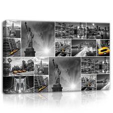 CANVAS Wandbild Leinwandbild New York Taxi Stadt Denkmäler Auto Foto 3FX10461O4