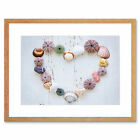Heart Seashells Rocks Wood Beach Love Maritime Framed Wall Art Print