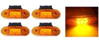4x 24V SMD 9 LED Arancio Luci Ingombro laterali & Supporto CAMION RIMORCHIO