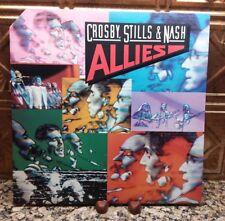 "CROSBY, STILLS & NASH ""Allies"" LP 1983 Atlantic 80075-1 SP Lyrics  VG+/VG+"