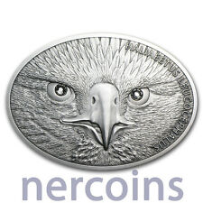 Fiji 2013 Bald Eagle $10 Fascinating Wildlife 1 Oz Silver Coin with Gemstones