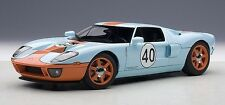 Autoart 1:18 2004 Ford GT, Racing Gulf #40, blue/orange paint scheme