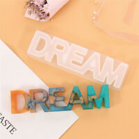 DREAM Sign Resin Casting Mould Silicone DIY Jewelry Making Epoxy Mold Craft Tool